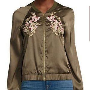 """""""Design Lab"""", Green Floral/Tiger Jacket, Sz S"""